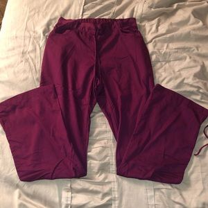 Grey's Anatomy maroon scrub pants size S/Tall